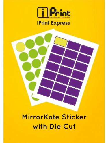 MirrorKote Sticker with Die Cut