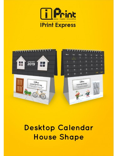 House Shape Desktop Calendar 2019