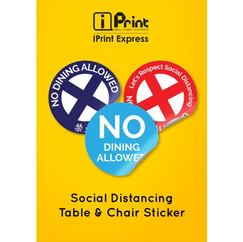 Social Distancing Table & Chair Sticker