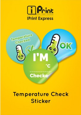 Temperature Check Sticker